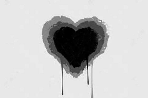 Black heart bleeding