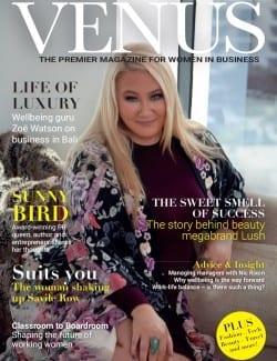 Venus Magazine Cover - Photograph of Zoe Watson - Life of luxury. Wellbeing guru Zoe Watson on business in Bali.
