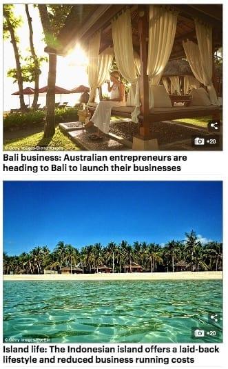 Aussie entrepreneurs Zoe Watson Bliss Bali Retreat Daily Mail online 2