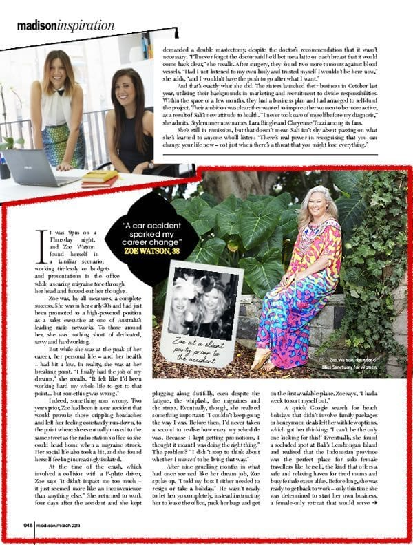 Madison Magazine: Inspiration – What Comes Next 2