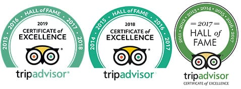 Bliss Sanctuary For Women Trip Advisor Hall of Fame 2017, 2018, 2019