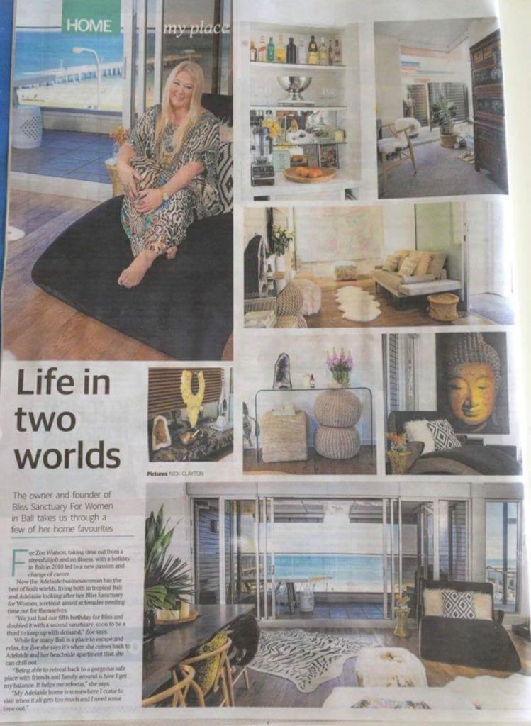 Zoe Bliss Watson 'Life in two worlds' media article