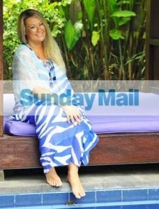 Zoe by the pool Sunday Mail Aug 12